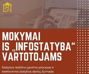 """MOKYMAI IS """"INFOSTATYBA"""" VARTOTOJAMS"""